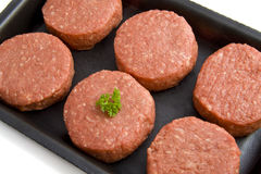 Fresh tartaar. Fresh raw red  meat isolated over white Royalty Free Stock Image