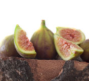 Fresh and tasteful figs Stock Photos