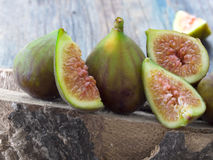 Fresh and tasteful figs Royalty Free Stock Images