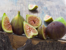 Fresh and tasteful figs Stock Photography