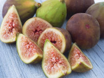 Fresh and tasteful figs Stock Images