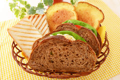 Fresh and tasty bread breakfast Royalty Free Stock Image