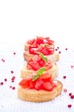 Fresh tasty bruschetta Stock Image