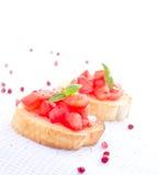 Fresh tasty bruschetta Stock Photos