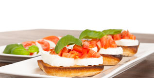 Fresh and tasty bruschetta Royalty Free Stock Image