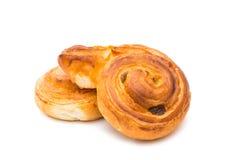 Fresh tasty buns isolated Stock Photo