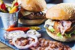 Fresh tasty burger. Stock Photography
