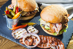 Fresh tasty burger. Stock Images