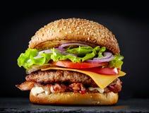 Fresh tasty burger stock photography