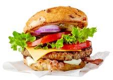 Fresh tasty burger stock image