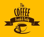 Fresh and tasty coffee banner Stock Photography