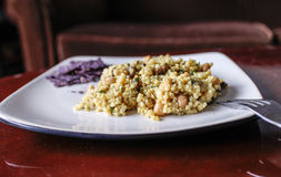 Fresh tasty couscous chickpea salad Royalty Free Stock Photos