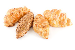 Fresh and tasty croissant. Over white background Royalty Free Stock Images