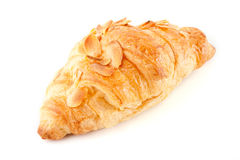 Fresh and tasty croissant. Over white background Stock Image