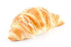 Fresh and tasty croissant. Over white background Royalty Free Stock Photo