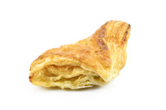 Fresh and tasty croissant. On white background Royalty Free Stock Photography