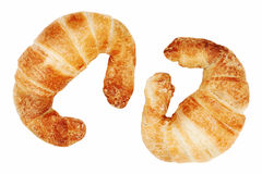 Fresh and tasty croissant isolated on white background Royalty Free Stock Images