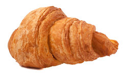 Fresh and tasty croissant over isolated white background. Fresh and tasty croissant isolated white background Stock Photos