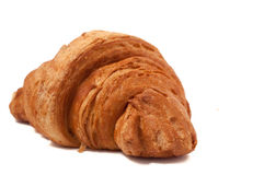 Fresh and tasty croissant over isolated white background. Fresh and tasty croissant isolated white background Royalty Free Stock Image