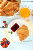 Fresh tasty croissants Royalty Free Stock Photography