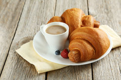 Fresh tasty croissants Royalty Free Stock Images