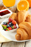 Fresh tasty croissants Royalty Free Stock Photos
