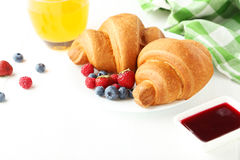 Fresh tasty croissants Stock Photo