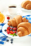Fresh tasty croissants Stock Images