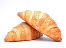 Fresh and tasty croissants Royalty Free Stock Photo