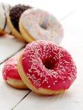 Fresh tasty donuts with glaze Royalty Free Stock Image
