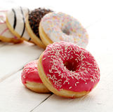 Fresh tasty donuts with glaze Royalty Free Stock Images