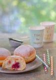 Fresh tasty donuts Stock Photography