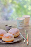 Fresh tasty donuts Stock Photo