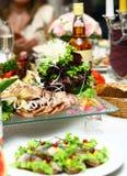 Fresh and tasty food on table Stock Photos
