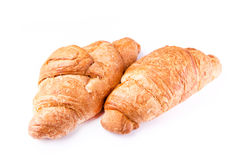 Fresh and tasty French croissants Royalty Free Stock Photos