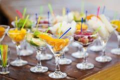 Fresh tasty fruit cuts Stock Image