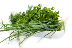 Fresh tasty greens Royalty Free Stock Images