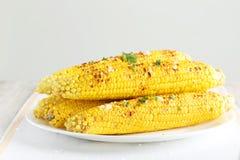 Fresh tasty grilled corn Royalty Free Stock Photo