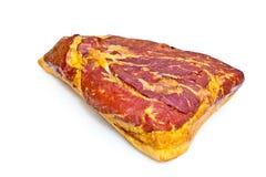 Fresh tasty ham. In detail Royalty Free Stock Photo