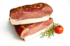 Fresh tasty ham. In detail Stock Photo