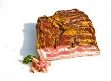 Fresh tasty ham. In detail Stock Photos