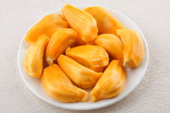 Fresh tasty Jack fruit. Jack fruit with seeds and fruit Stock Photos
