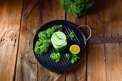 Kale smoothie. A fresh and tasty kale smoothie stock photos