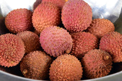 Fresh and Tasty Litchi Exotic Fruits Royalty Free Stock Photography
