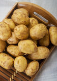 Fresh tasty new potatoes. Selective focus Royalty Free Stock Photos