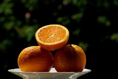 Fresh tasty orange in the summer royalty free stock images