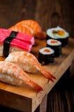 Fresh and tasty oriental sushi, Japanese theme Royalty Free Stock Images