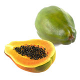 Fresh and tasty papaya isolated Stock Images