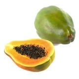 Fresh and tasty papaya isolated Stock Images