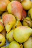 Fresh tasty pear fruit on market outdoor in summer Royalty Free Stock Image
